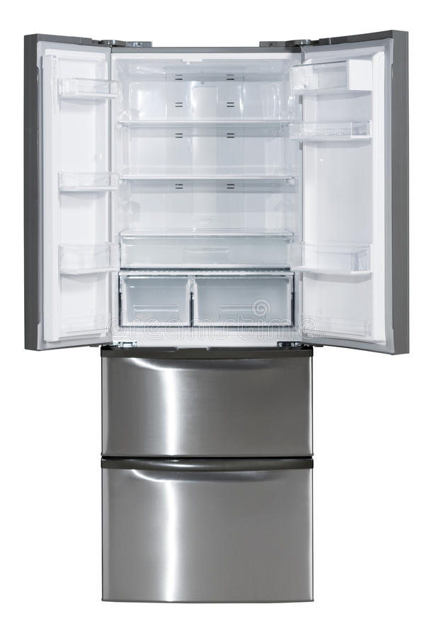 Side-by-side refrigerator royalty free stock photo