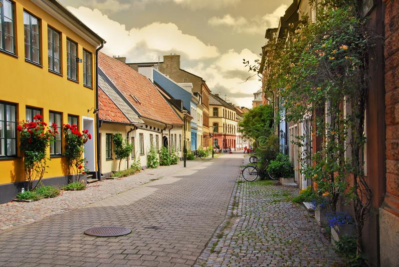 A side street in Malmo stock photography