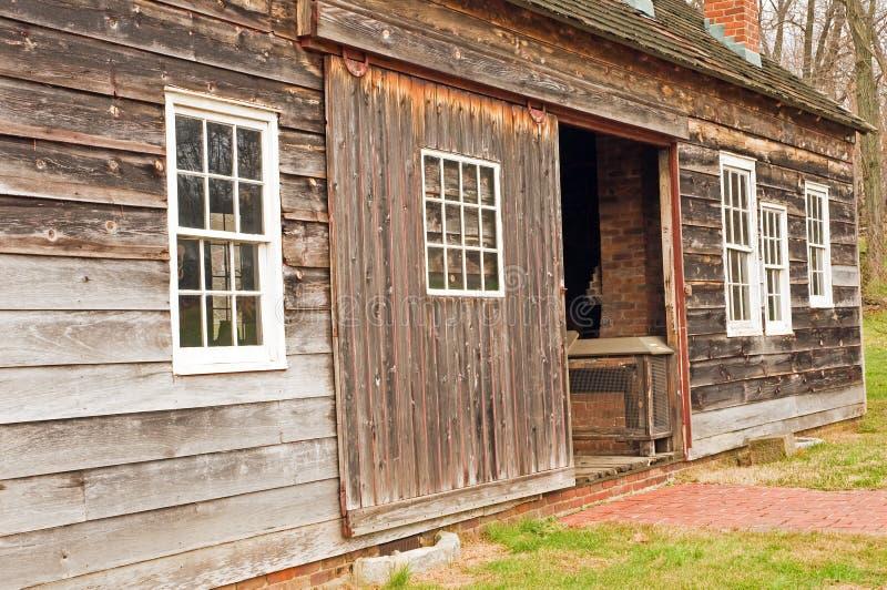 Download Side of unpainted barn stock image. Image of door, entrance - 7448499