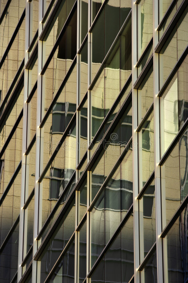 Side of urban building. Side of urban building with windows stock photo