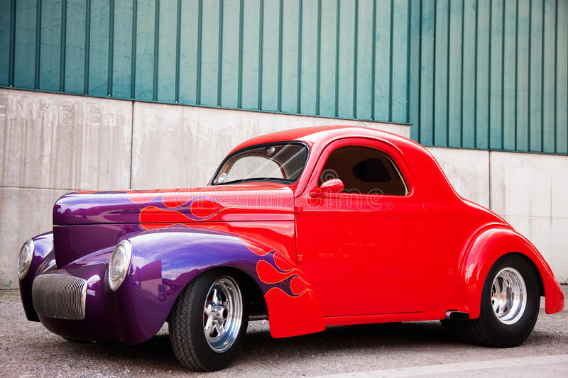 Side View of American Classic Car. A US Classic Car, Side View stock photography