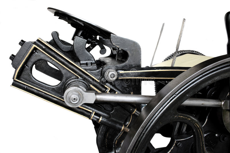 Download Side View Of Antique Press Royalty Free Stock Image - Image: 2306316