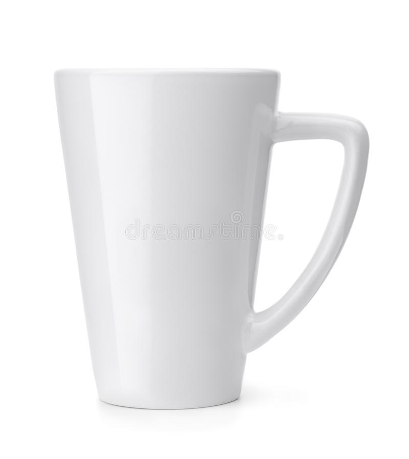 Side view of blank coffee mug. Isolated on white stock photography