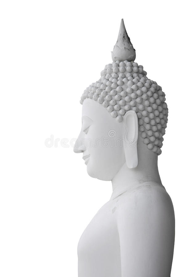 Side view of Buddha statue royalty free stock images