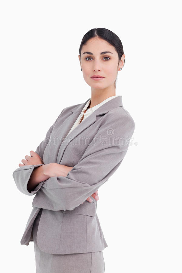 Download Side View Of Businesswoman With Folded Arms Stock Photo - Image: 23013894