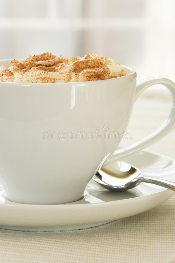 Download Side view of Cappuccino stock photo. Image of table, brewed - 3210868