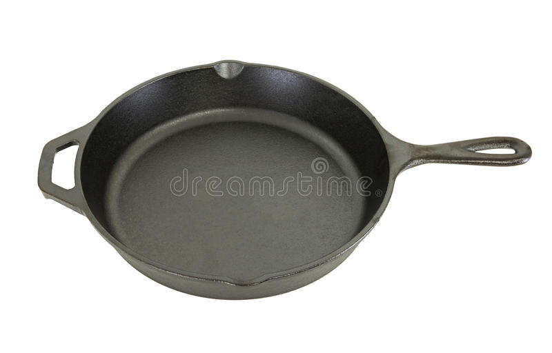 Side View of Cast Iron Pan royalty free stock photography