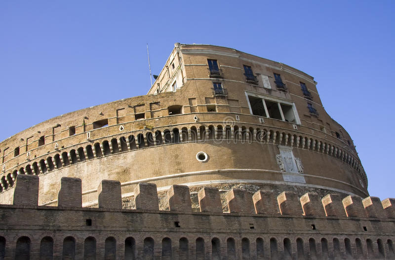 Download Side View Of Castle Saint Angelo In Rome Stock Image - Image: 21857381