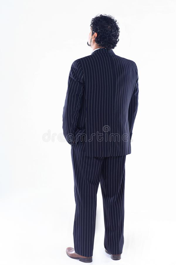 Side view.confident businessman looking at copy space royalty free stock photos