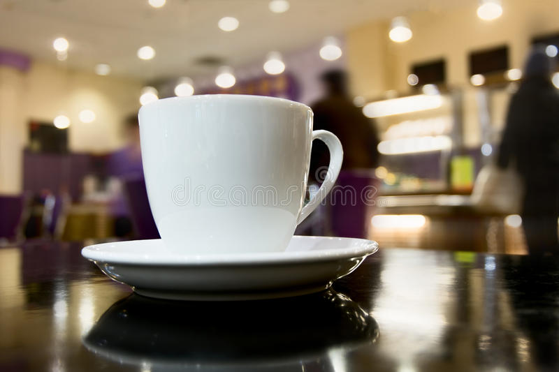 Side view of cup of coffee stock photography