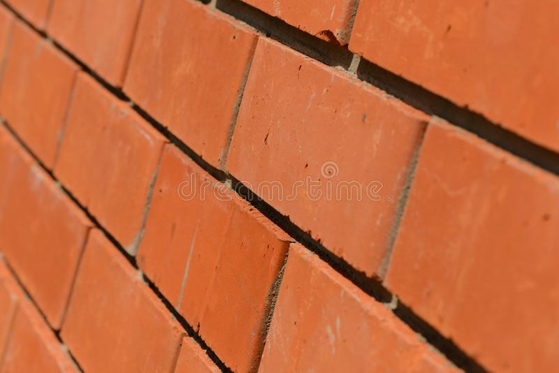 Download Side View Diagonally On A Brick Wall Stock Image