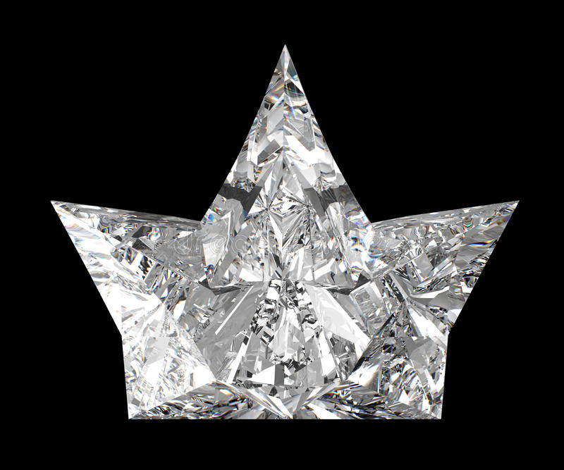 Side view of diamond crown over black