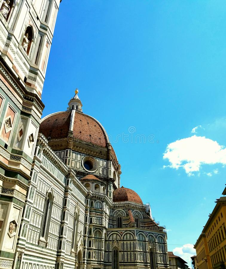 Side View of Duomo in Florence, Italy. Side view of landmark cathedral in Florence, Italy stock image