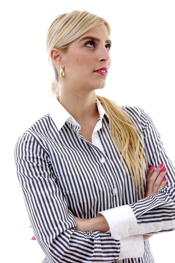 Download Side View Of Female Looking Upward Stock Photo - Image: 7368638