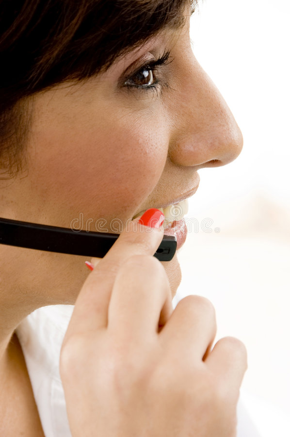 Download Side View Of Female Service Provider Stock Photography - Image: 7366372