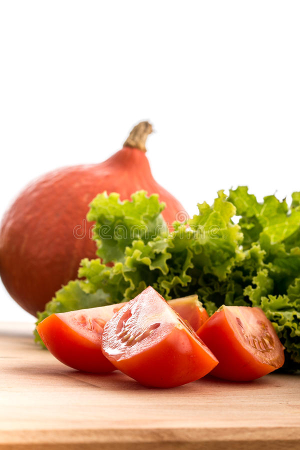 Side view of fresh vegetables royalty free stock photos
