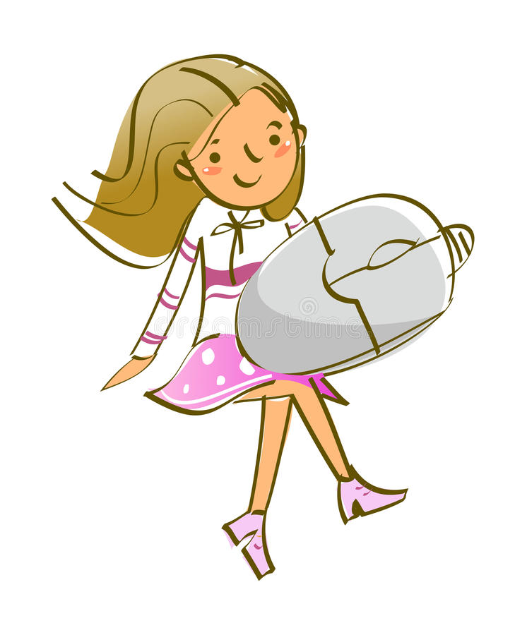 Download Side view of girl stock vector. Illustration of girl - 30544433