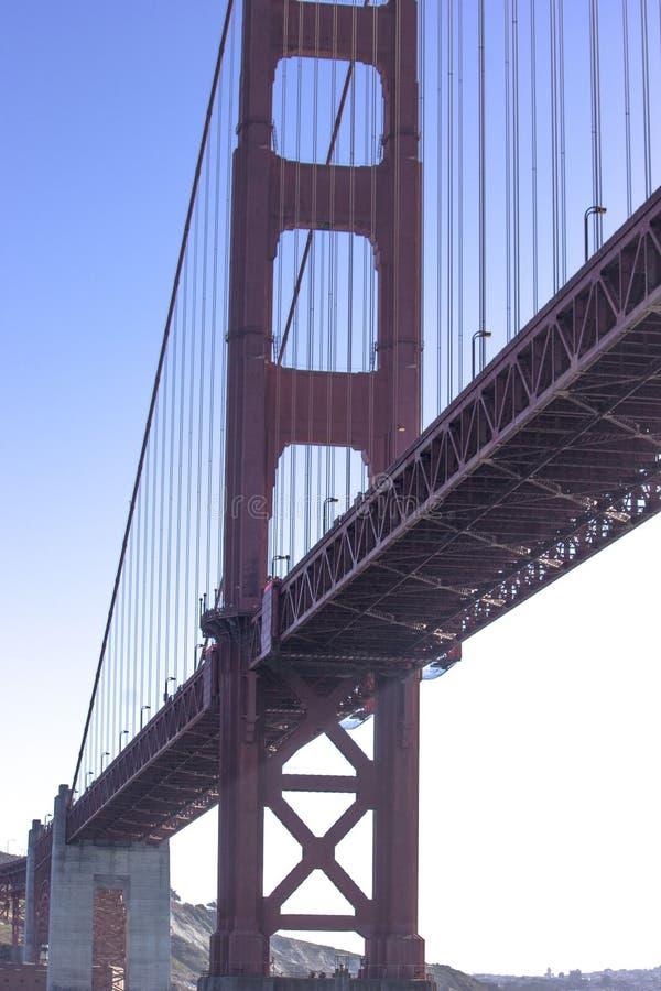 Side View of Golden Gate Bridge stock photo