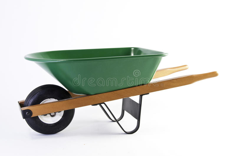 Download Side View Of Green Wheel Barrel Stock Photo - Image: 10492740