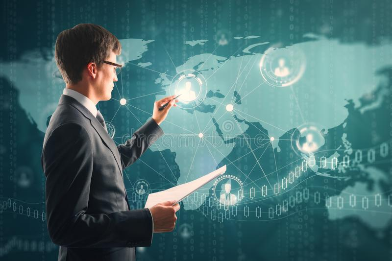 Global business and future concept stock photo