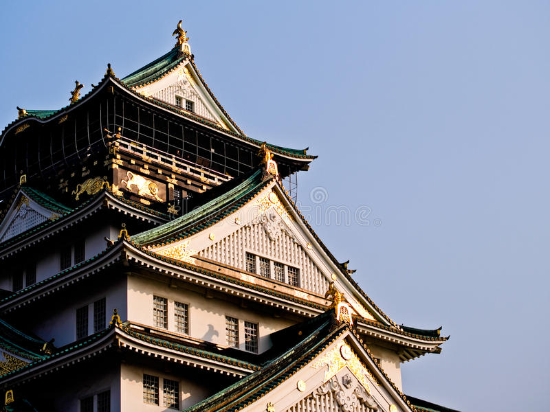 Side View at Himeji Castle. With blue sky at Osaka , Japan stock image