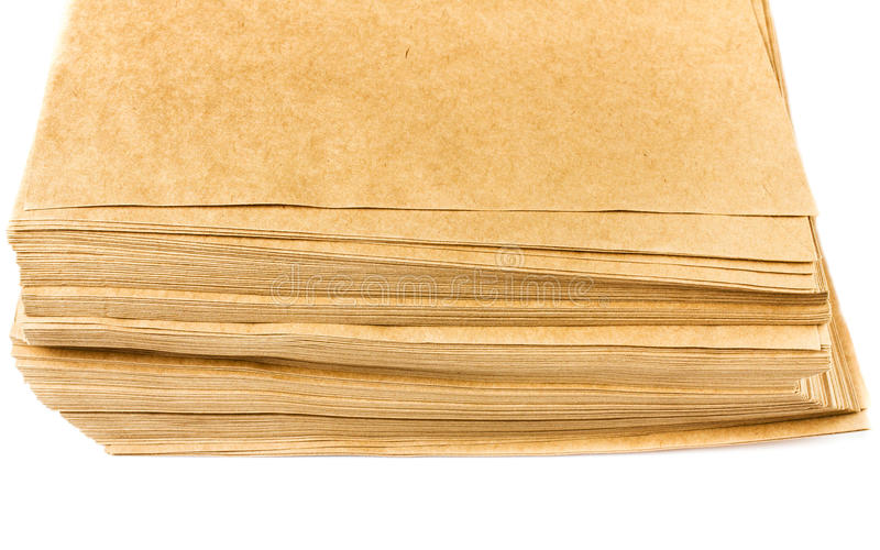 Download Side View Of Huge Stack Of Recycled Paper Cardstocks  Isolated O Stock Photo - Image: 33573966