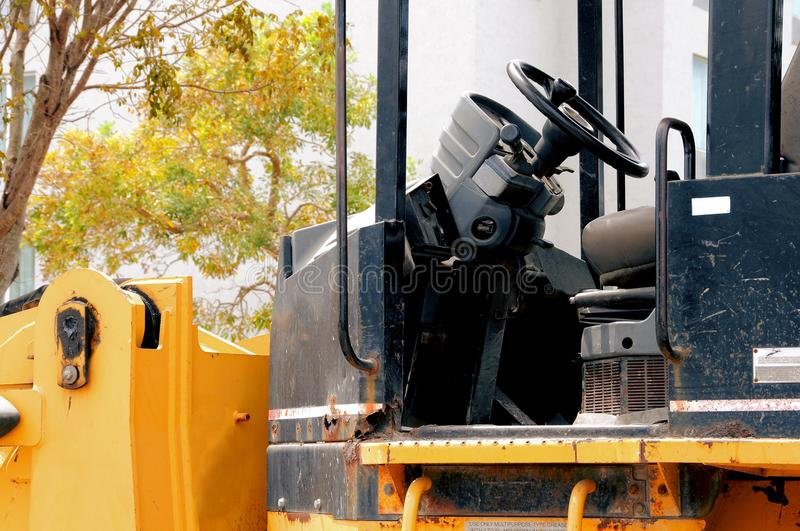 Download Side view of loader cab stock photo. Image of excavation - 69351996