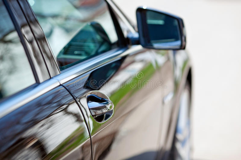 Side view of a luxury car stock photos