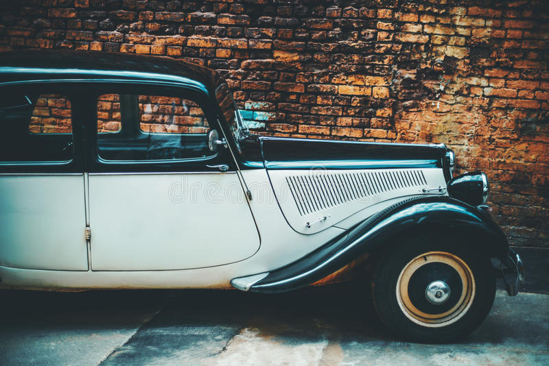 Side View Of Luxury Vintage Car Stock Image - Image of clic ...