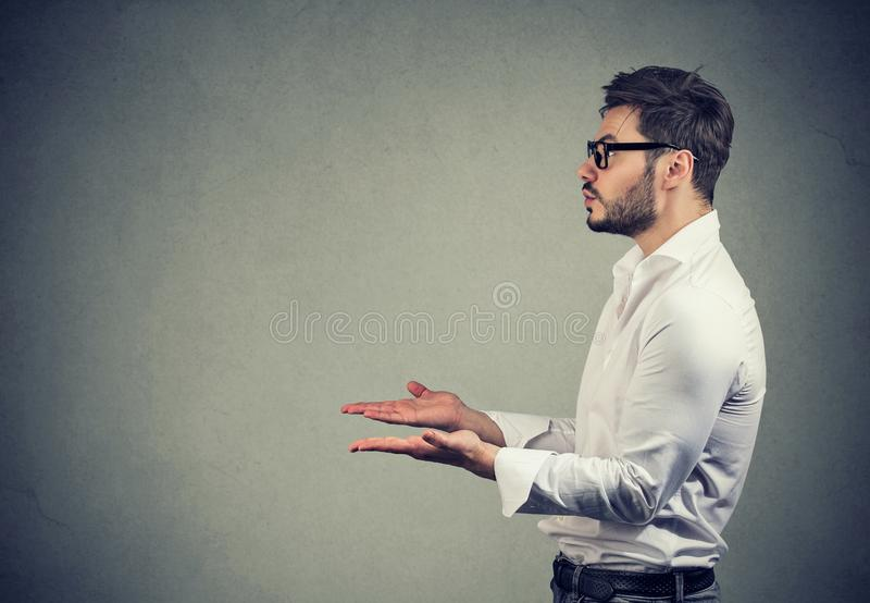 Young Man asking for help royalty free stock photos