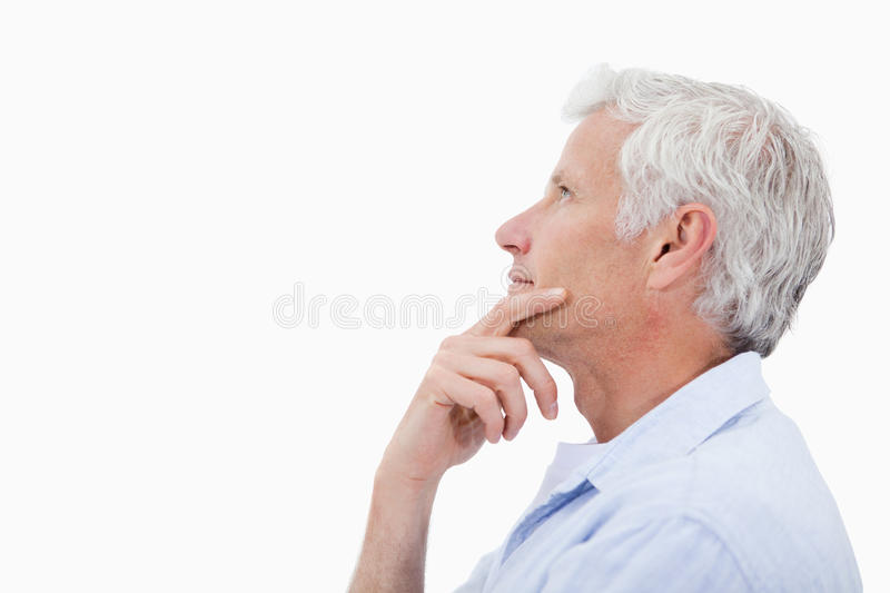 Download Side View Of A Man Thinking Stock Photo - Image: 22663310