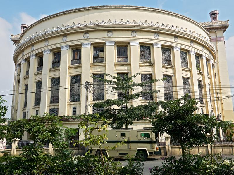 Side view of the Manila Central Post Office building stock image