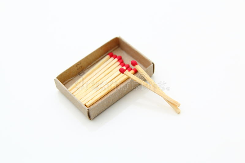 side view matchbox with a match sticks out stock photo