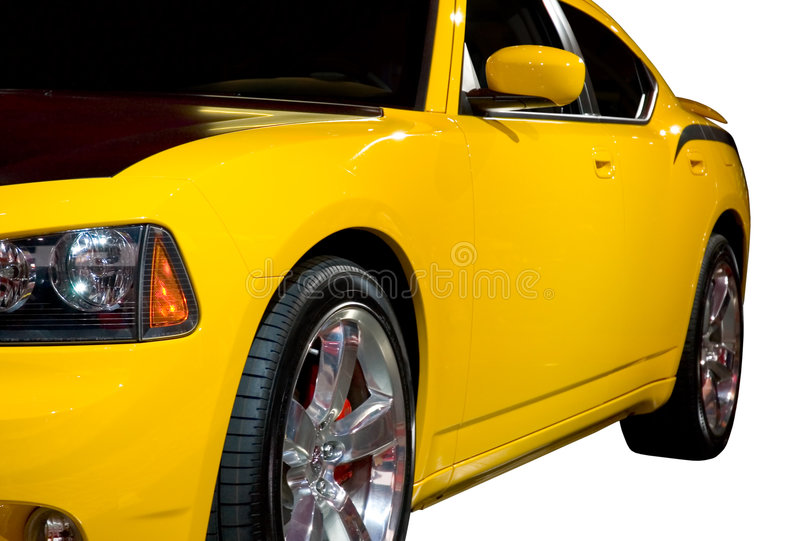 Download Side view of a Muscle Car stock image. Image of rims, race - 479611