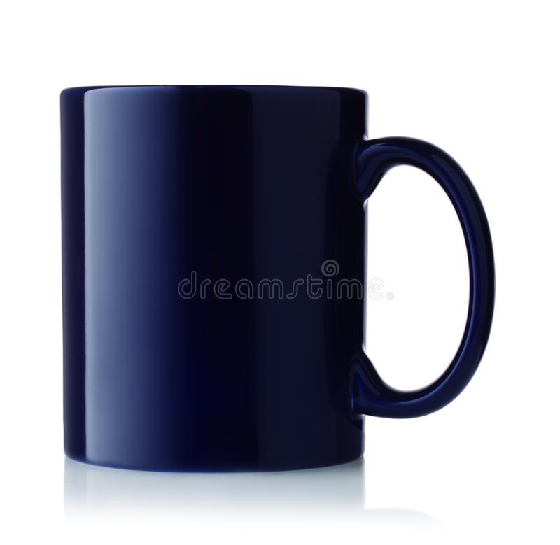 Free Side View Of Blue Coffee Mug Royalty Free Stock Images - 115448189