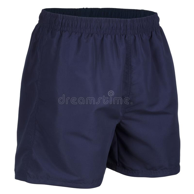 Free Side View Of Navy Blue Men Shorts For Swimming Stock Images - 132645944