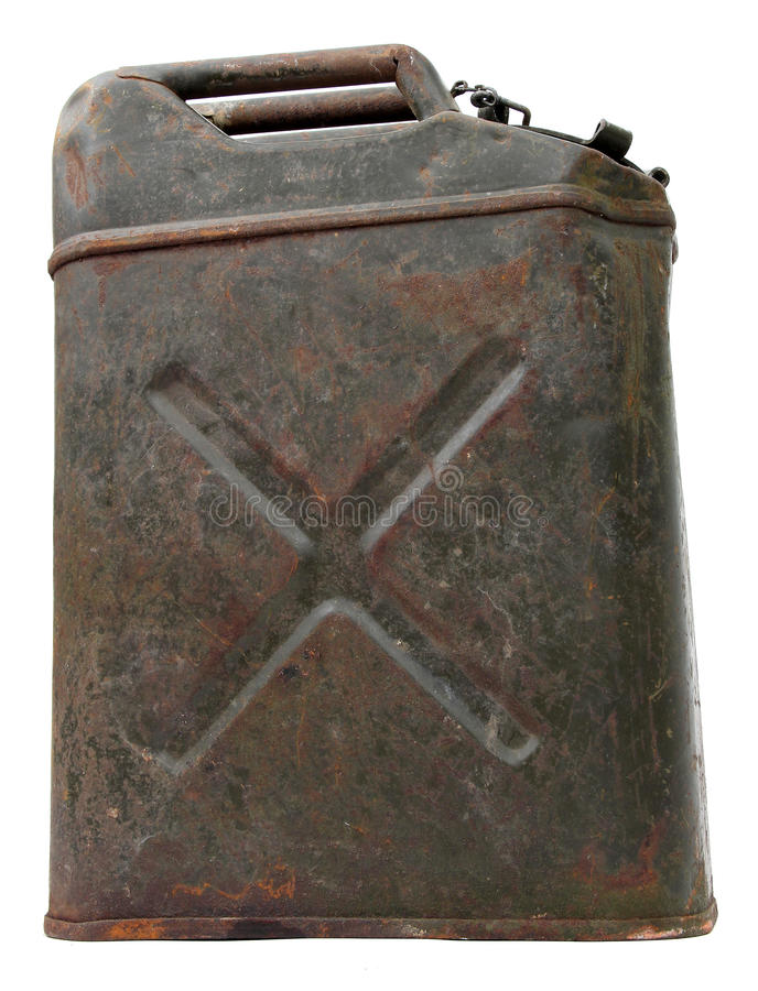 Download Side View Of An Old Rusty Jerrycan Stock Image - Image: 22560879
