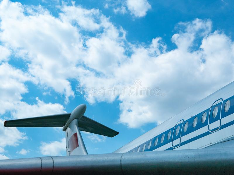 Side view of passenger air jet royalty free stock photos