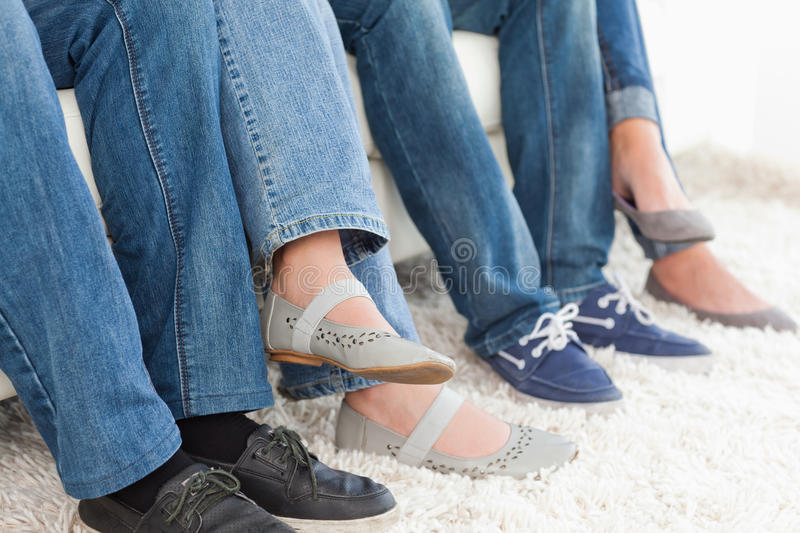 Download Side view of people's feet stock photo. Image of woman - 25336132