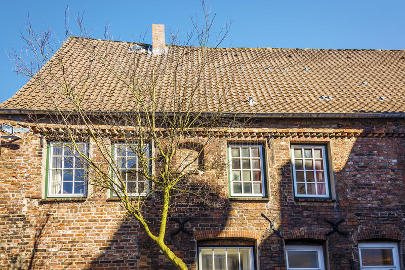 Download Side View red brick house stock image. Image of autumn - 30476103