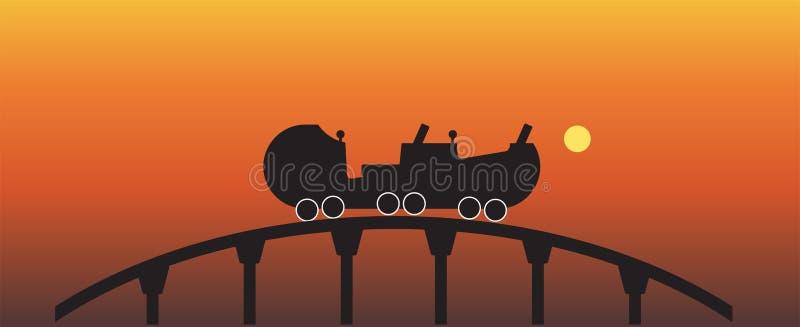 Roller Coaster Silhouette Stock Illustrations – 450 Roller ...