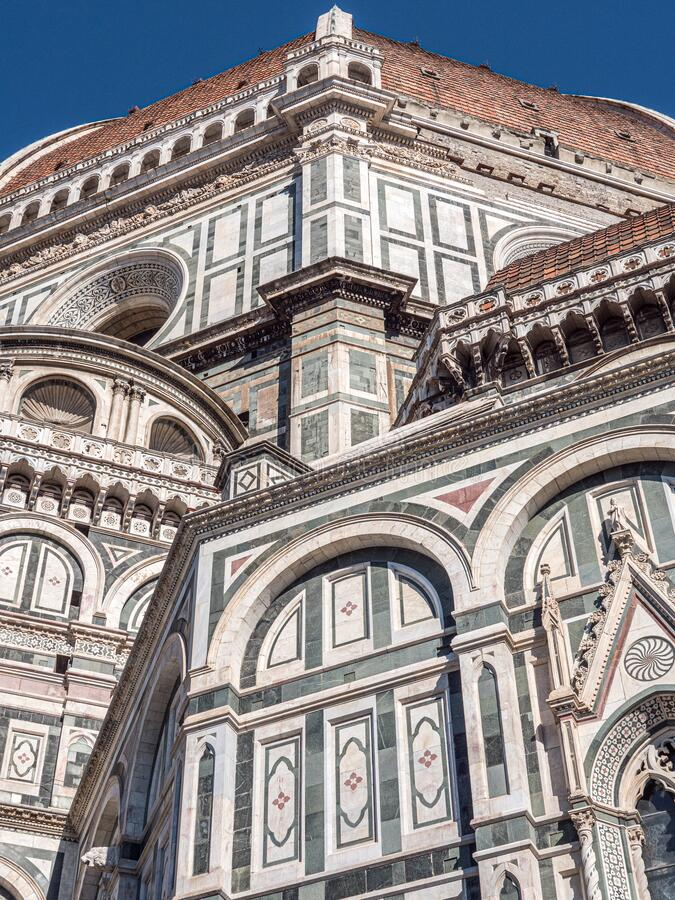 Side view of Santa Maria del Fiore Cathedral. Side view of the Santa Maria del Fiore Cathedral in Firenze, Italy royalty free stock photography