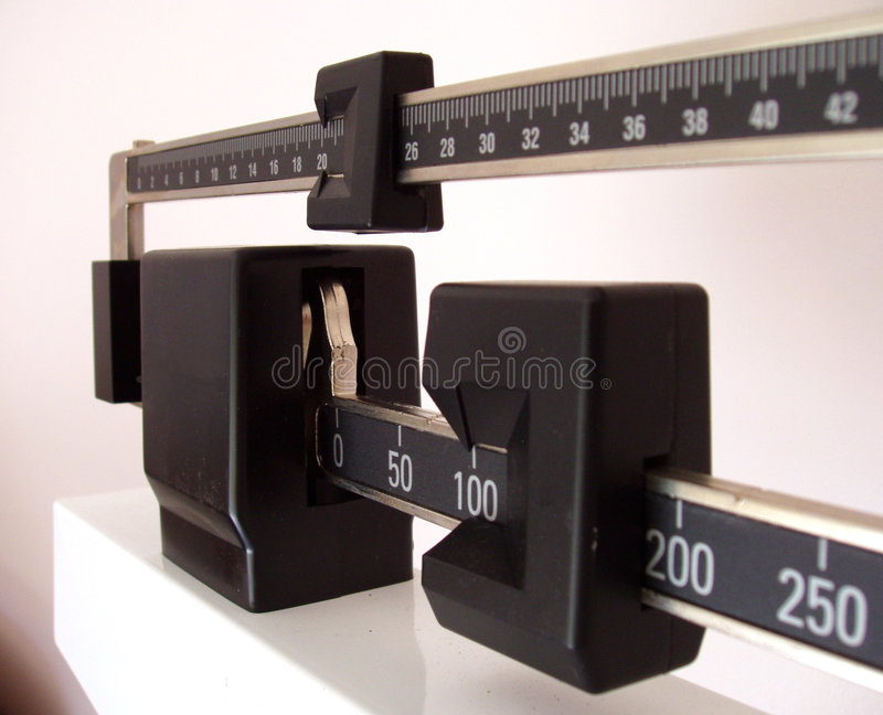 Side view of scale stock photography