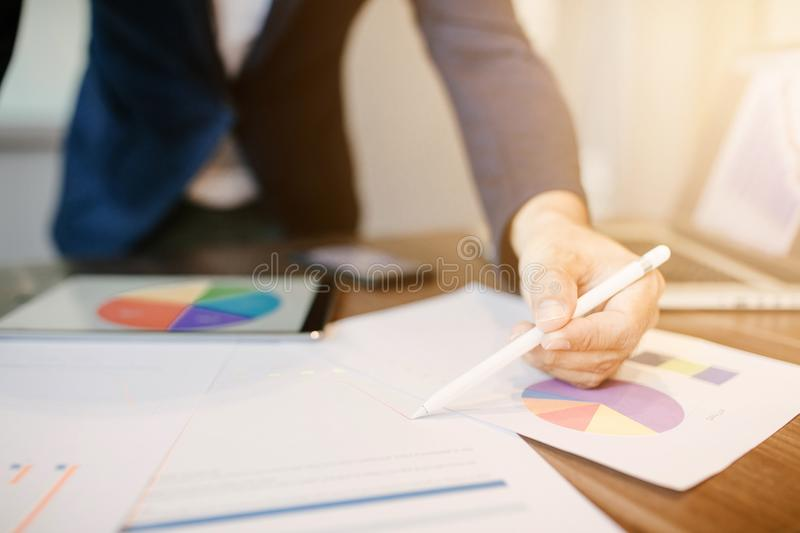 Side view shot of a businessman stock image