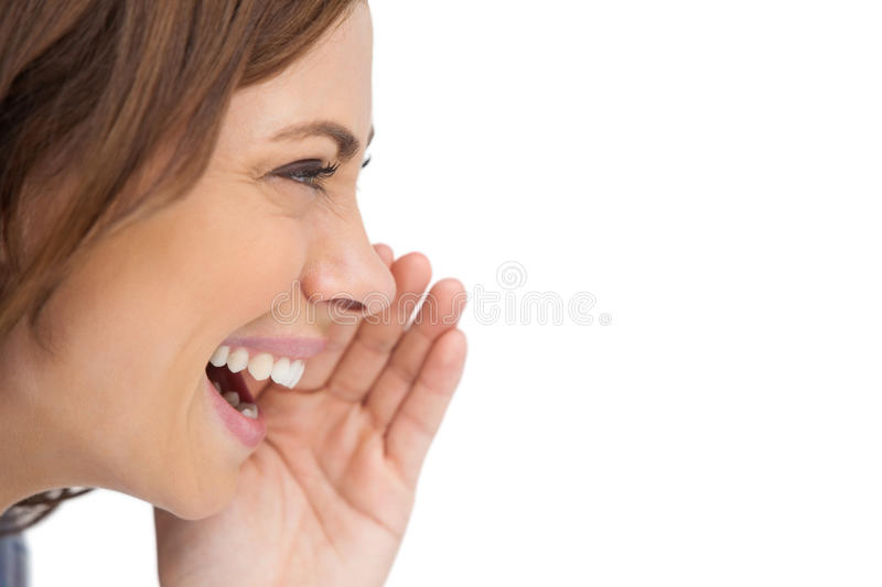 Download Side View Of A Smiling Woman Stock Image - Image: 32511509