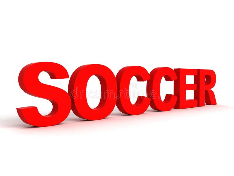 Side view of soccer word
