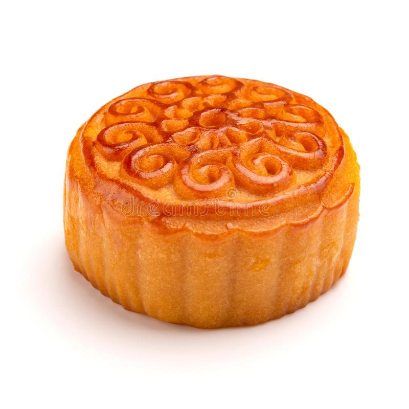 Side view studio shoot of traditional Chinese mooncake royalty free stock photos