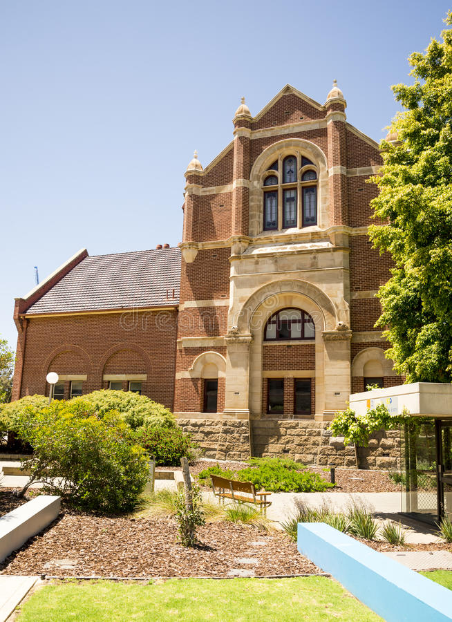 Side view of Western Australian Museum building in Perth royalty free stock photo