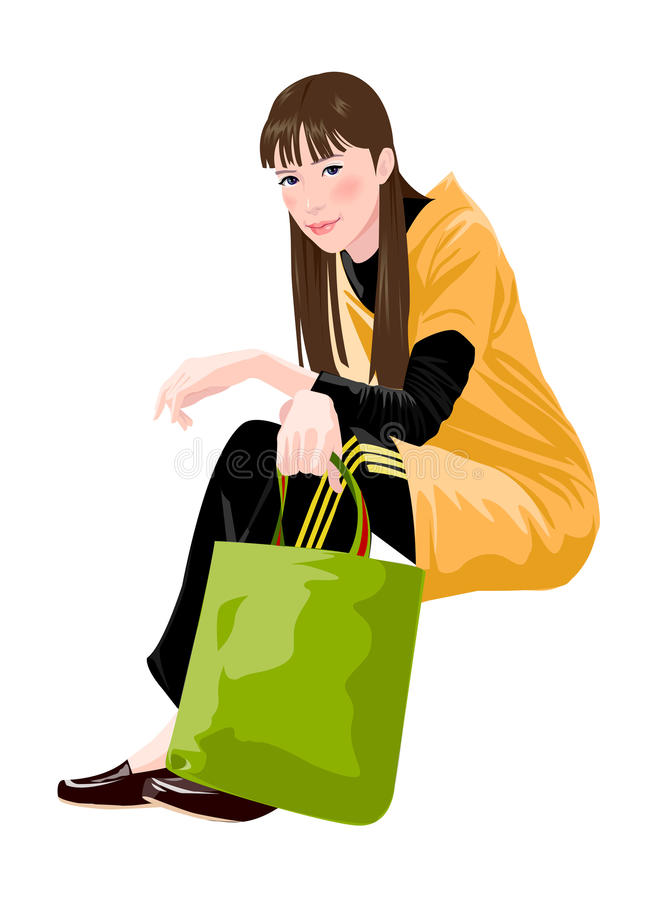 Download Side view of woman stock vector. Image of imagination - 30093021