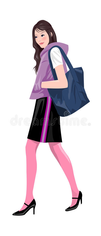 Download Side view of woman stock vector. Illustration of background - 30093022